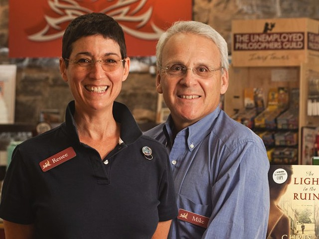 Renée Reiner and Michael DeSanto, co-owners of Phoenix Books - FILE: MATTHEW THORSEN