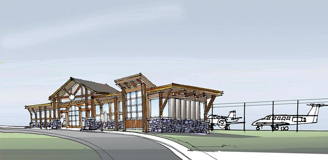 Proposed renovations to Newport State Airport - COURTESY OF JAY PEAK RESORT