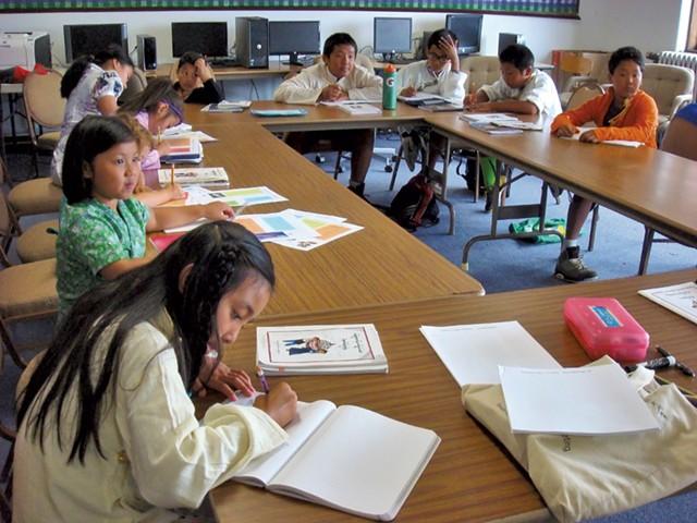 The students in the Tibetan Association  of Vermont's weekend school - KYMELYA SARI
