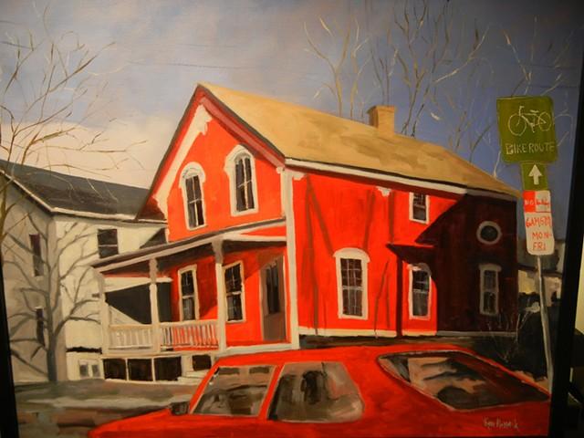 "Ken Russack, ""Red House on Pine Street"""