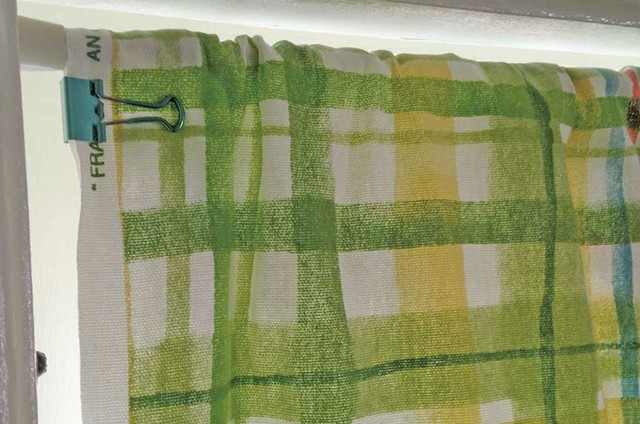 Cowan made her own budget-friendly curtains using binder clips and discount fabric. - COURTESY OF LIZA COWAN