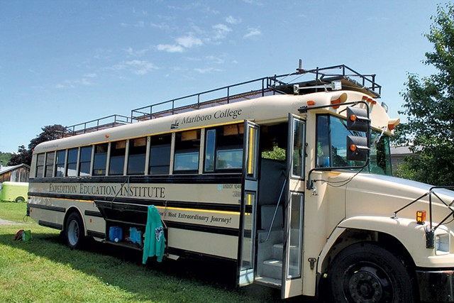 Marlboro College's Expedition Education Institute bus - COUTRESY OF LARKSPUR MORTON