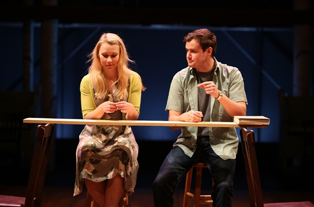 Sutton Crawford (Emily) and Casey Predovic (George) - COURTESY OF ROB STRONG