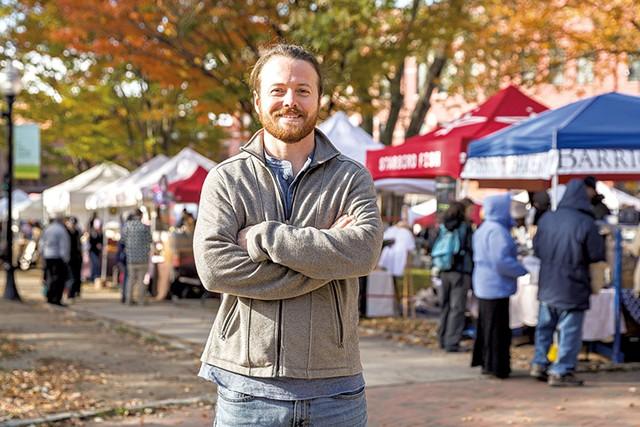 Phillip Clayton at the Burlington Farmers Market - OLIVER PARINI