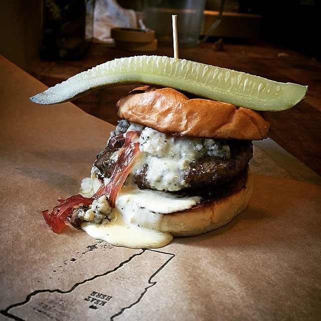 The Waterbury Patriot Burger - COURTESY OF PROHIBITION PIG