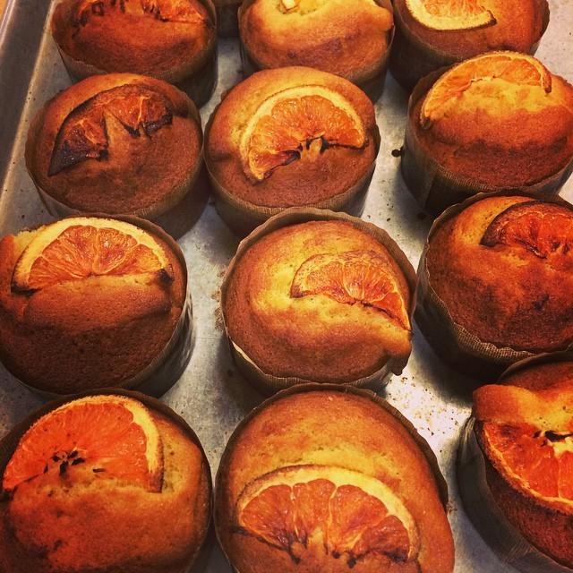 "Orange olive oil cakes - COURTESY OF ""DJINVT"" OF MIRABELLES CAFÉ"
