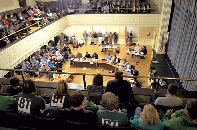 Scene from the October 30 Burlington City Council meeting - FILE: KATIE JICKLING