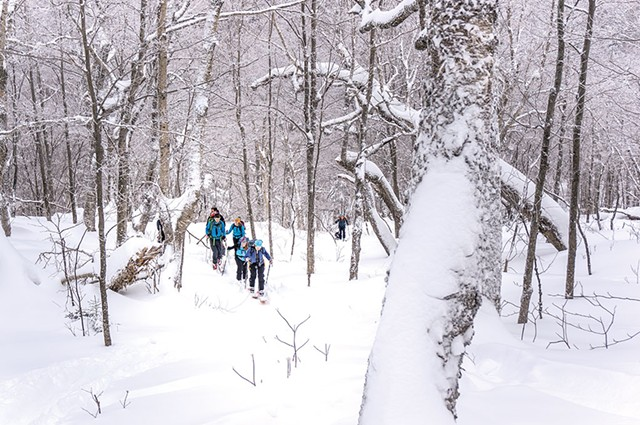 Uphill skiing - COURTESY OF CATAMOUNT TRAIL ASSOCIATION
