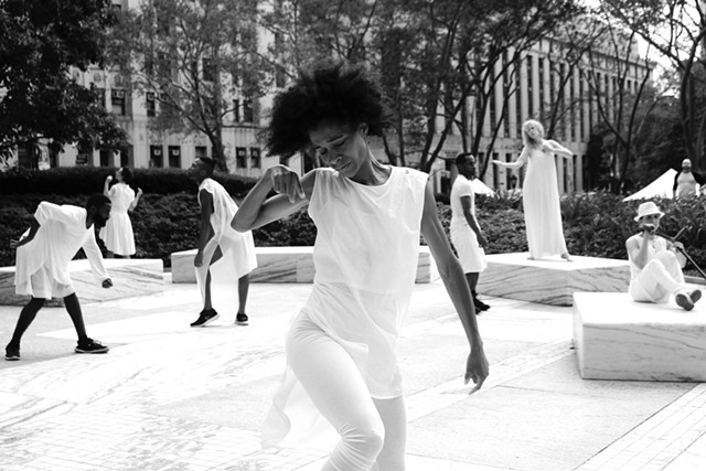 """""""ON DISPLAY,"""" performed at Federal Plaza in New York City - COURTESY OF CHARLOTTE JONES"""