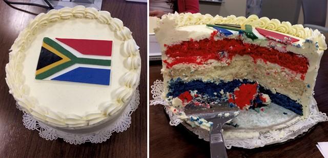 A celebratory cake from Hinkle's coworkers at Keurig Green Mountain - HAMEDA HINKLE