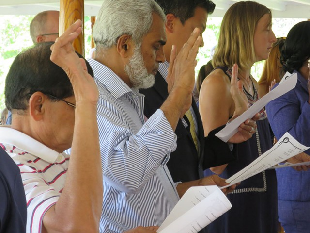 New citizens take the Oath of Allegiance in Shelburne - MATTHEW THORSEN