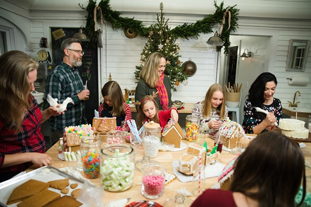"""Gingerbread party on """"Baked in Vermont"""" - COURTESY FOOD NETWORK"""