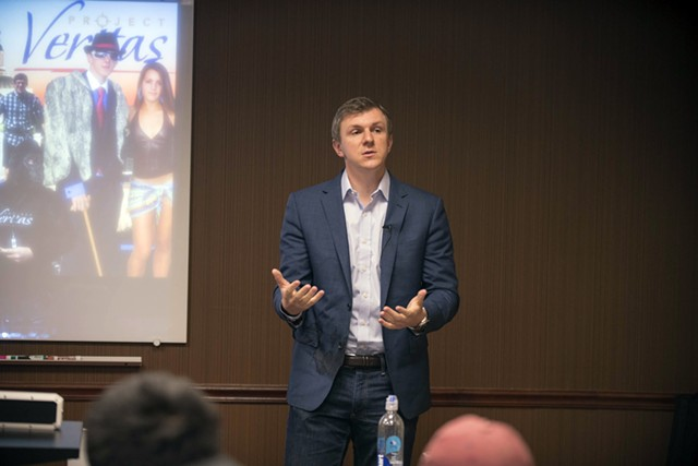 James O'Keefe speaking in Middlebury - CALEB KENNA