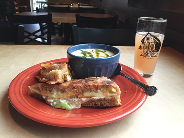 Soup, sandwich and a beer at Lost Nation Brewing - SALLY POLLAK