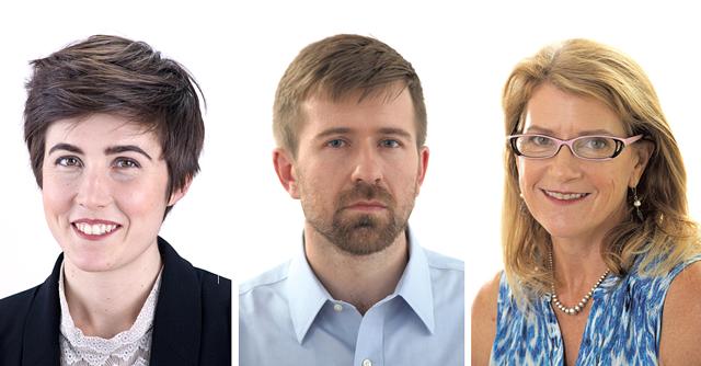 Left to right: Alicia Freese, Paul Heintz, Molly Walsh - MATTHEW THORSEN