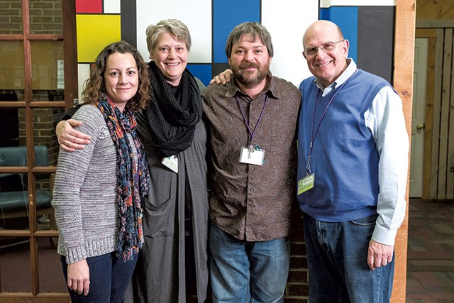 Turning Point Center staff, left to right: Kelly Breeyear, Sara Glasgow, Ken Johnson and Gary De Carolis - OLIVER PARINI