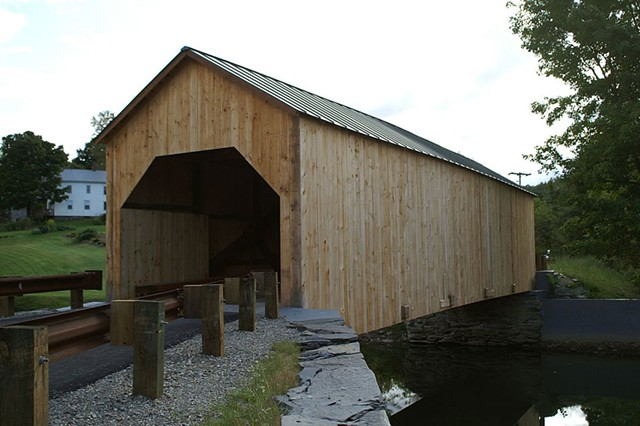 The East Fairfield covered bridge in 2009 - COURTESY OF  STEVE BERGERON