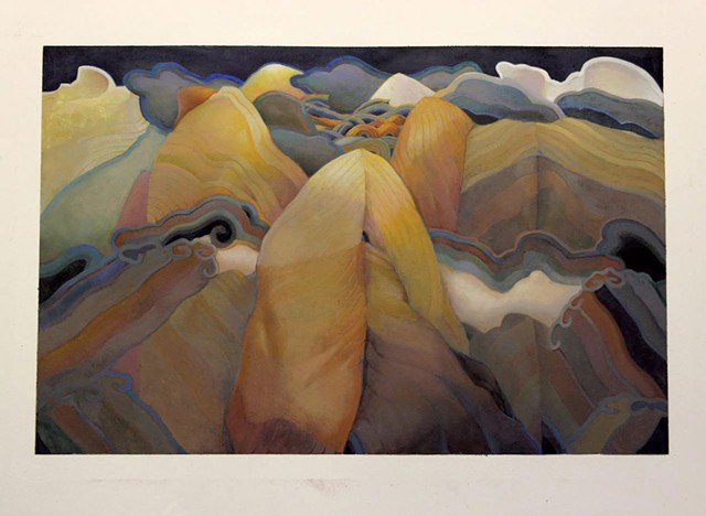"""""""Cloud Mountain"""" by Valerie Hird"""