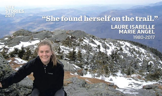 Laure Angel on top of Camel's Hump - COURTESY OF AMY KIRK