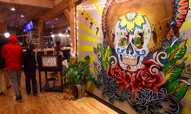 El Día de los Muertos mural at Tres Amigos - JEB WALLACE-BRODEUR
