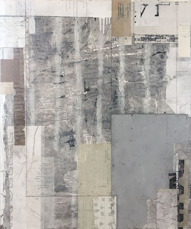 Untitled collage/mixed media on plywood by Matthew Monk - IMAGES COURTESY OF MATTHEW MONK