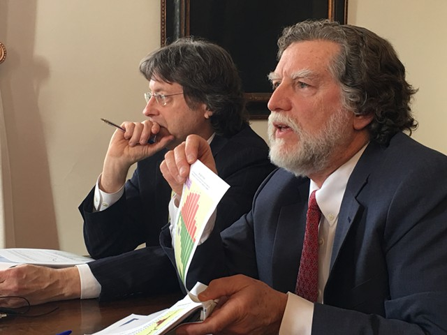 State economists Jeffrey Carr and Tom Kavet - JOHN WALTERS
