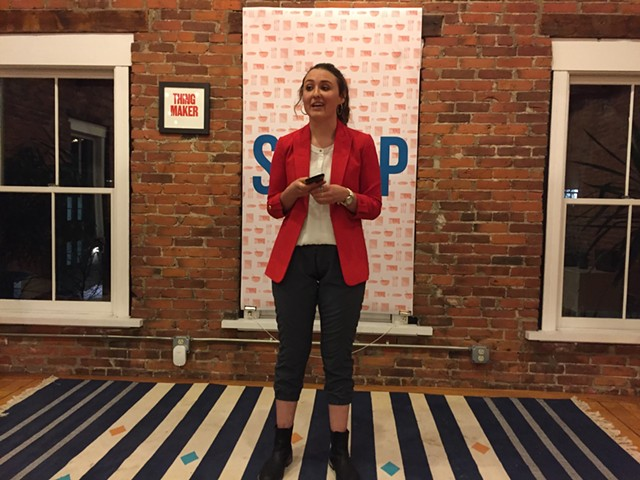 Georgia Grace Edwards describes SheFly, pants equipped with a special fly for women - SALLY POLLAK