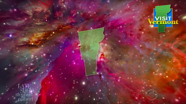 Vermont IS tiny compared to the rest of the universe! - SCREENSHOT