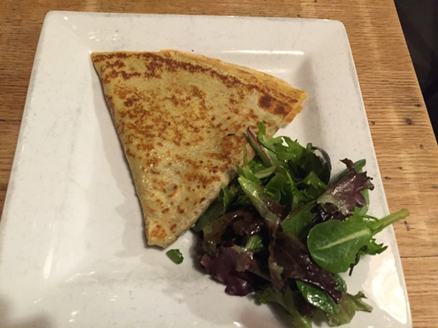 Cheesy-pesto crepe - SALLY POLLAK