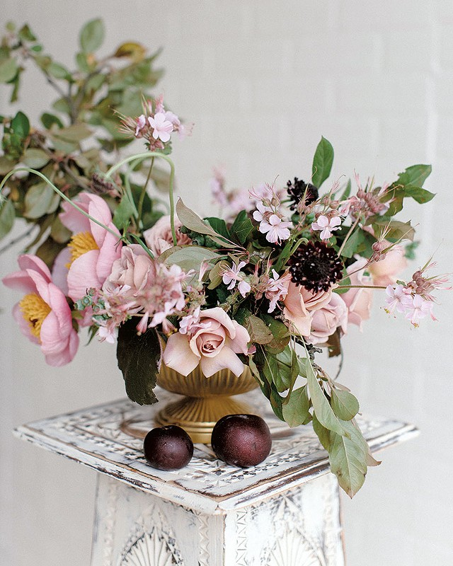 Floral design by Nectar & Root - COURTESY OF 822 WEDDINGS
