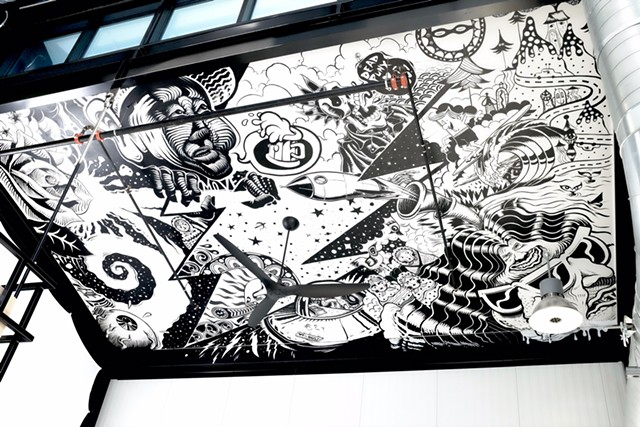 Mural by En Masse at the Alchemist Brewery and Visitors Center - ERIK NELSON