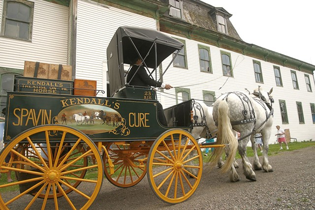 Spavin Cure wagon in Enosburg Falls, 2006 - COURTESY OF H. BROOKE PAIGE