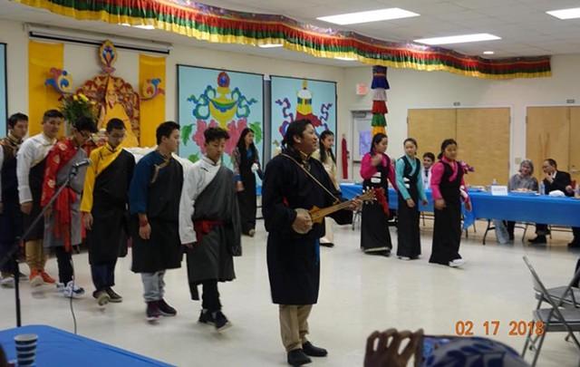 Rolyang Lobling students and their instructor, Migmar Tsering - TSETEN ANAK