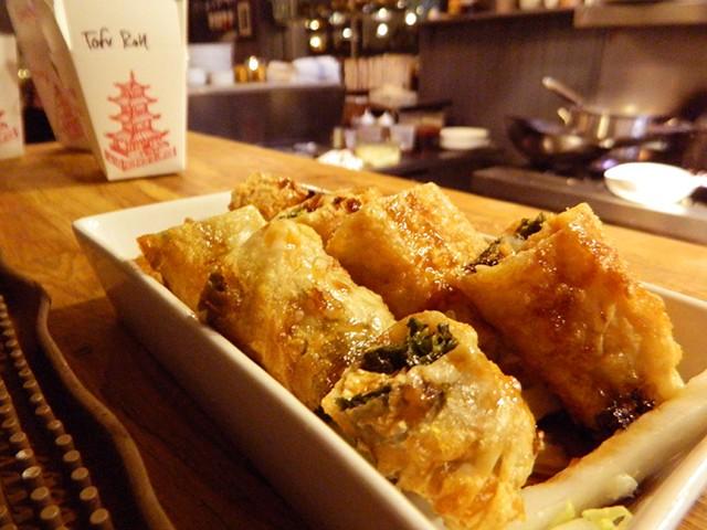 Tofu skin roll - COURTESY OF DYLAN BOISSEY