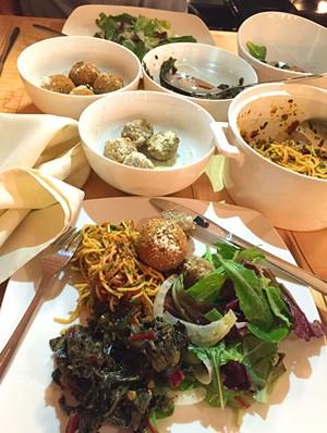 Spaghetti dinner at Sweet Simone's Monday Night Eats - SALLY POLLAK