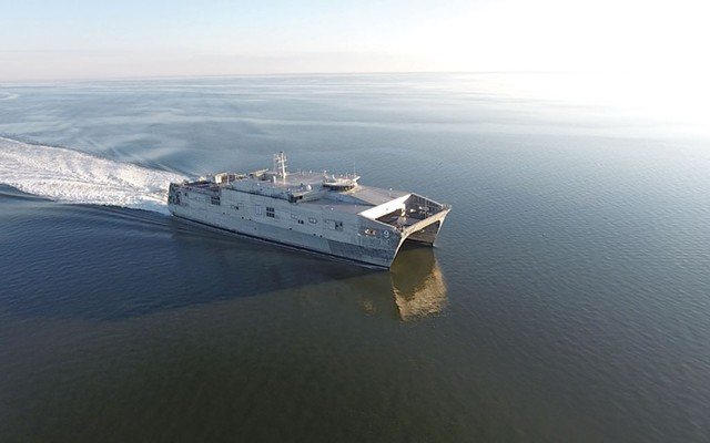 An expeditionary fast transport ship - COURTESY OF AUSTAL USA