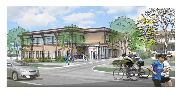 A rendering of the proposed new YMCA facility at 298 College Street - COURTESY
