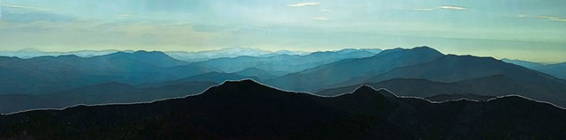 """Julie Parker, """"View of Sugarbush From Camel's Hump"""""""