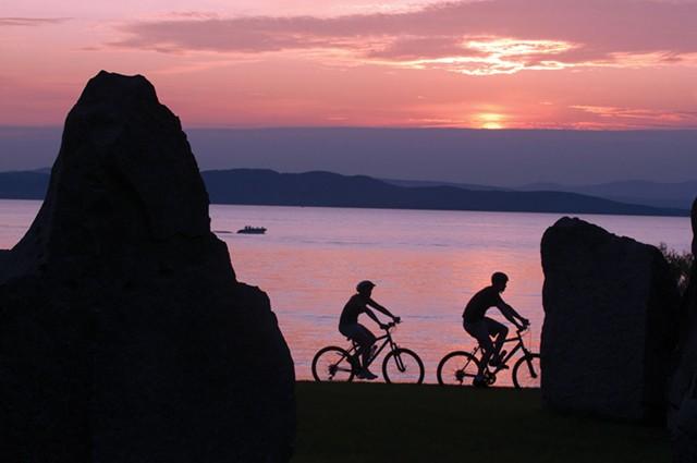 Evening ride along the Burlington bike path. - FILE: CALEB KENNA