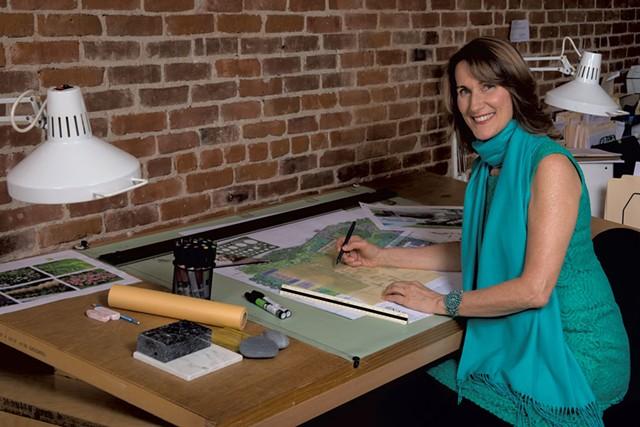 Landscape architect Cynthia Knauf in her office - COURTESY OF CYNTHIA KNAUF