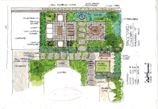 Sketch for Hill Section landscaping - COURTESY OF CYNTHIA KNAUF