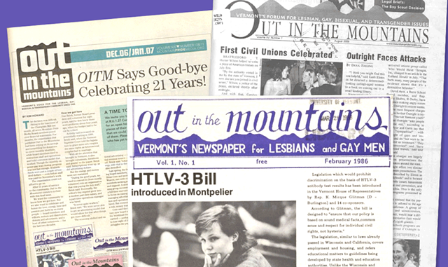 Covers of Out in the Mountains - UVM CENTER FOR DIGITAL INITIATIVES