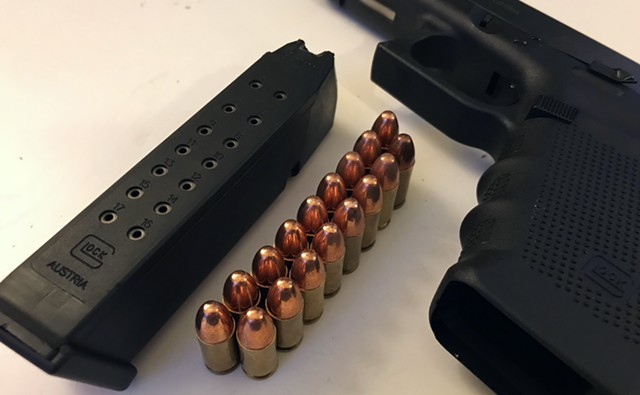 A 17-round magazine whose sale or transfer would be banned under S.55 - TAYLOR DOBBS