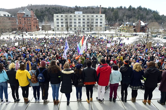 Students at the rally - JEB WALLACE-BRODEUR