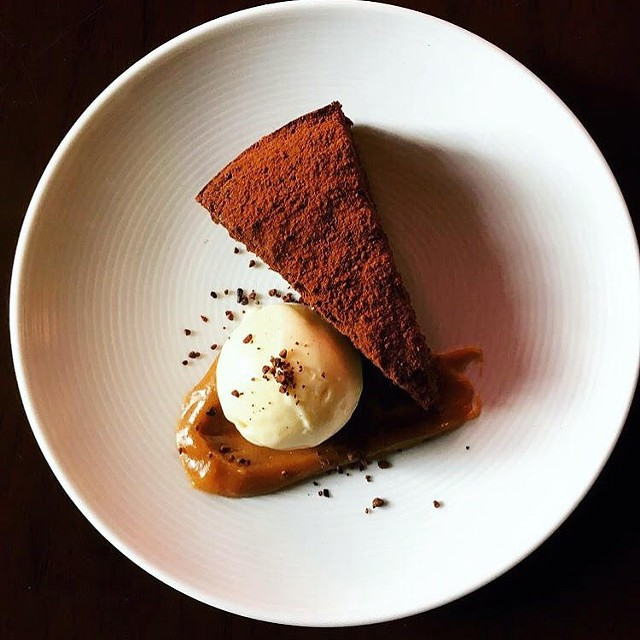 Chocolate-date cake at Honey Road restaurant - COURTESY OF HONEY ROAD