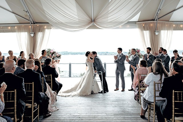 Ryan and Adrienne's wedding - COURTESY OF KHIARA LABRIE