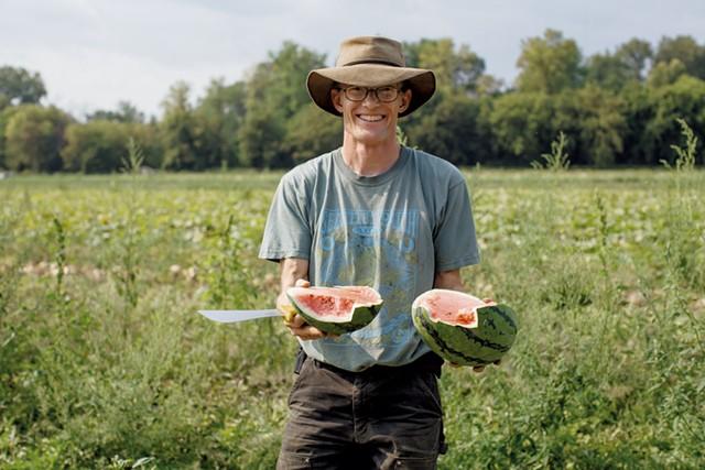 Andy Jones, farm manager of Intervale Community Farm - JESSICA SIPE
