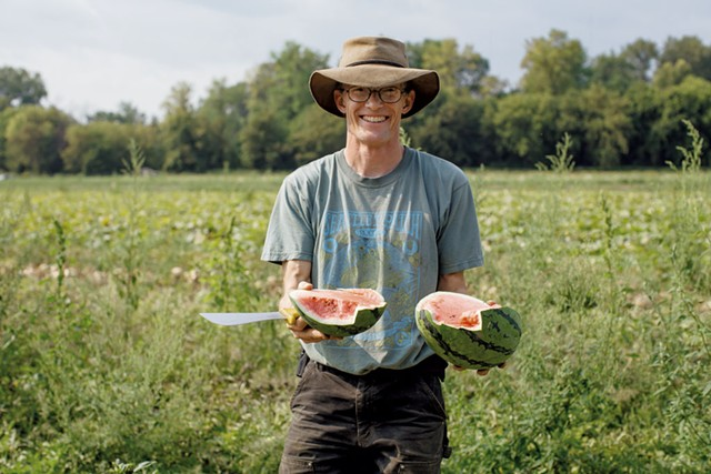 Andy Jones, farm manager of Intervale Community Farm - JESSICA SIPE