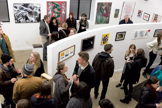 "Crowd at ""The Art Show IV"" - COURTESY OF TOMMY DELITTO"