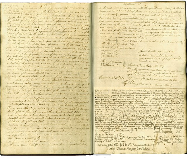 The Curtis Deed of 1819 - COURTESY OF THE TOWN OF WESTFORD